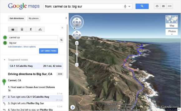 Google Maps Launches Helicopter View