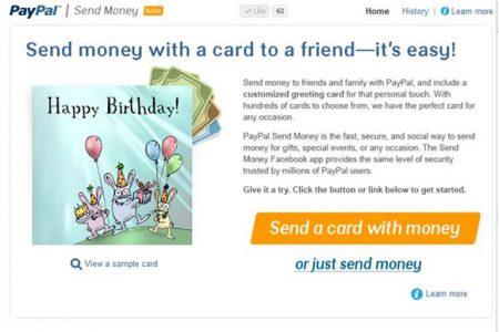 PayPal Launches Send Money Facebook App