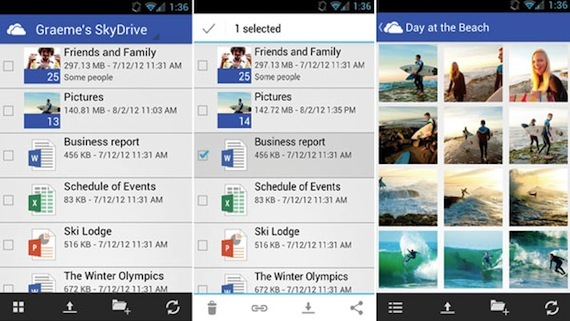 SkyDrive for Android app