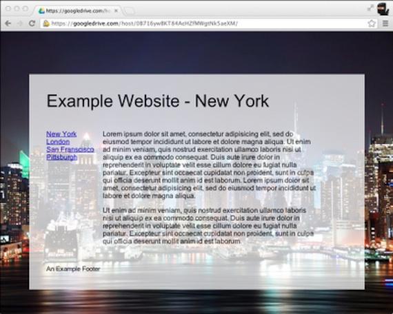 Google Drive Site Publishing