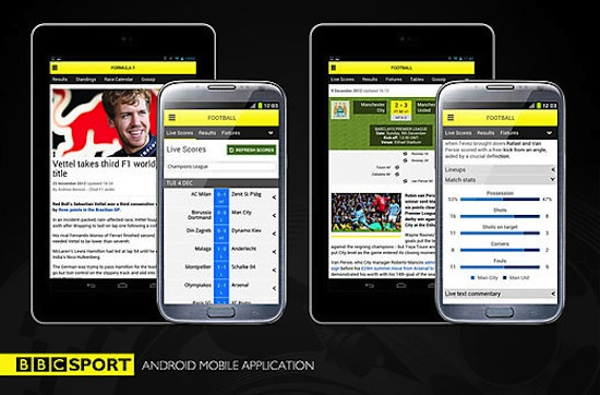 BBC Sport Android app