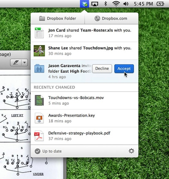 Dropbox redesigned desktop client