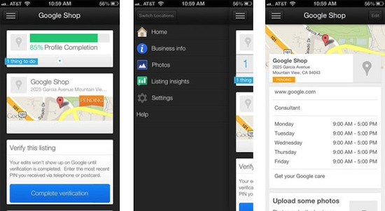 Google Places for Business app