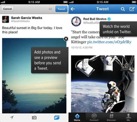 Twitter for iOS and Android updated