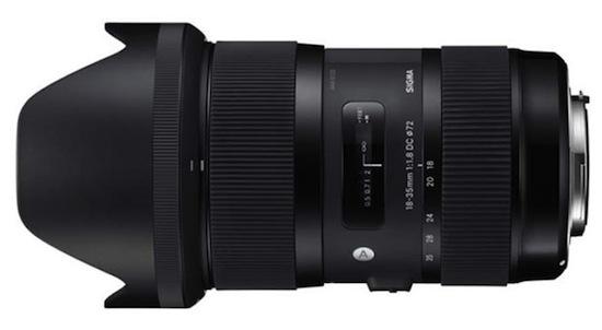Sigma 18-35mm f:1.8 APS-C zoom lens