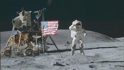 Apollo astronauts on moon mission